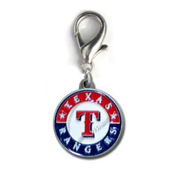 Texas Rangers Logo Dog Collar Charm-MLB Dogs-High Society Canine