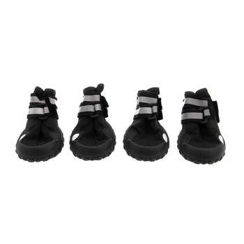 Trail Trackers Dog Boots by Doggles - Black with Reflective Trim-Doggles-High Society Canine