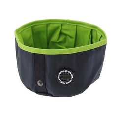 Trek Round Portable Bowl by Puppia Life - Navy