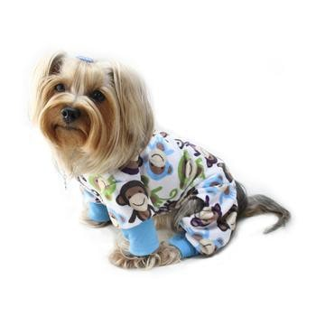 Ultra Soft Minky Monkey Dog Pajamas By Klippo-Klippo-High Society Canine