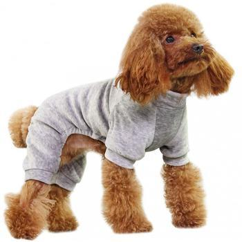 Velour Dog Pajamas by Dobaz - Gray-Dobaz,Parisian Pet-High Society Canine