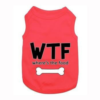 Wheres the Food Dog Tank by Parisian Pet - Red-Parisian Pet-High Society Canine