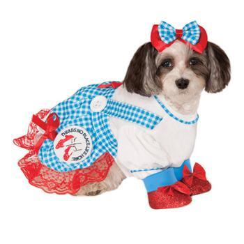 Wizard of Ozs Dorothy Dog Halloween Costume-Rubies Costumes-High Society Canine
