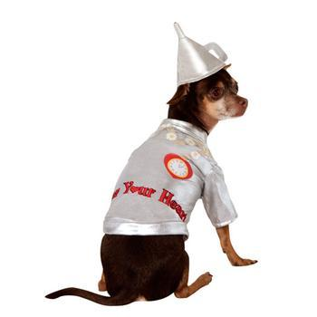 Wizard of Ozs Tin Man Dog Halloween Costume-Rubies Costumes-High Society Canine