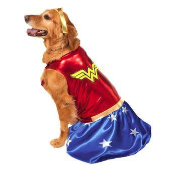 Wonder Woman Dog Halloween Costume-Rubies Costumes-High Society Canine