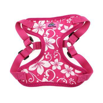 Wrap and Snap Choke Free Dog Harness by Doggie Design - Pink Hibiscus-Doggie Design-High Society Canine