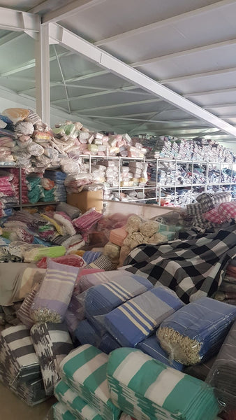 Turkish Towels in Our Warehouse in Turkey