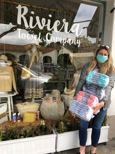 Anneliese from SB Mask Makers - Turkish Towels for Face Masks