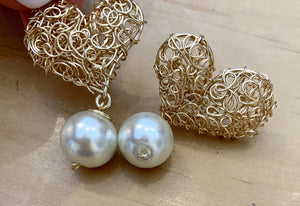 Accessories - Heart Earring/ Pearl