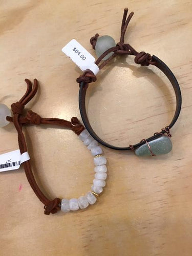 Assorted Natural Leather Bracelets