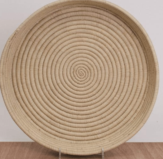 Home Decor - Large Raffia Tray