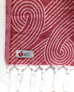 Infinite Hearts Wrap Turkish Towel