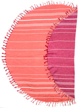 Towel - Dual Layer Essential Round Towels - Tied Color Tassels