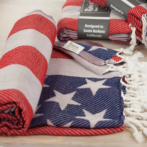 Turkish Towel - American Flag Towel