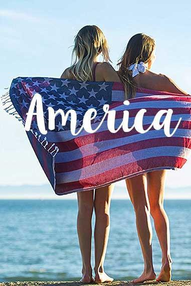 d4aed9b162 Turkish Towel - American Flag Towel Turkish Towel - American Flag Towel