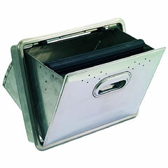 Stainless Steel Fold-down Knockbox Drawer