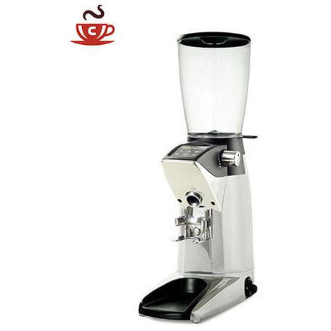 Compak F10 Fresh Polished Aluminum On Demand Grinder