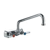 Whitehaus Heavy Duty Wall Mount Utility Faucet with Extended Swivel Spout and Lever Handles