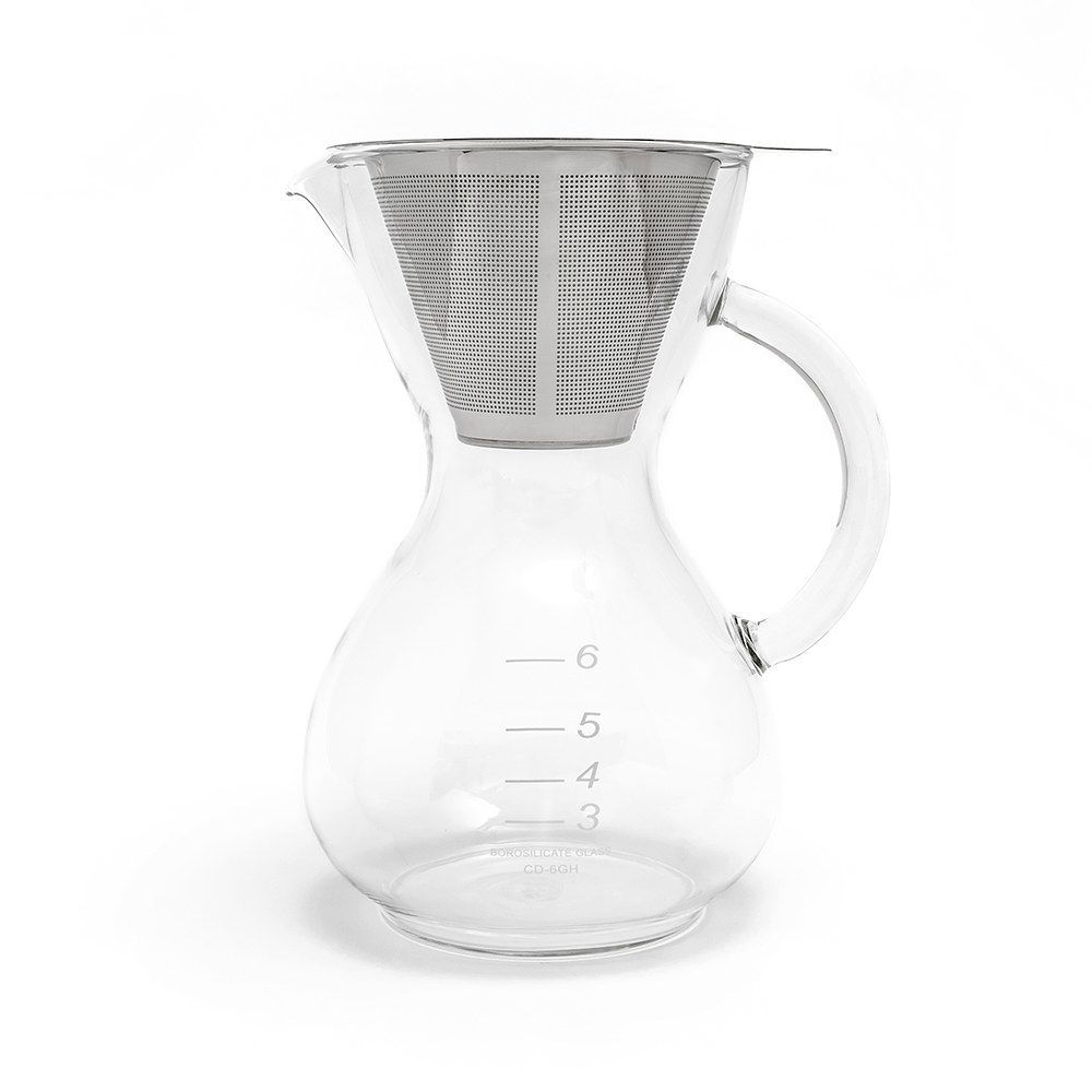 Yama Glass Coffee Drip Pot with Handle with Stainless Filter 30oz