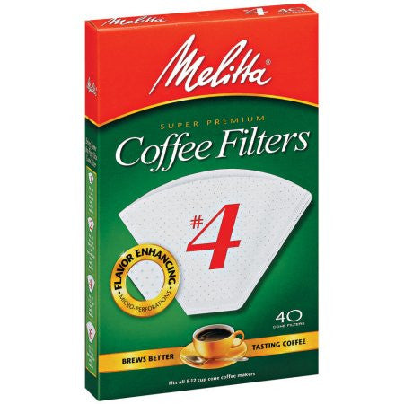 Melitta #4 White Filters - Coffeeionado