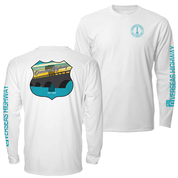 Overseas Highway Route 1 - Mens Long Sleeve UPF