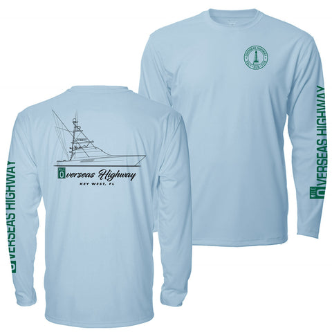 Overseas Highway  Fishing Team UPF - Mens Long Sleeve