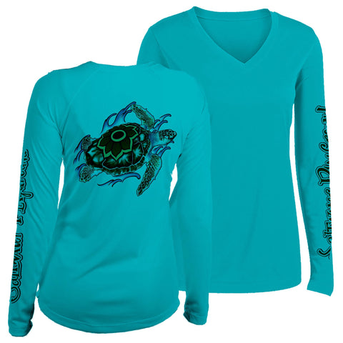 Sea Turtle V-Neck UPF
