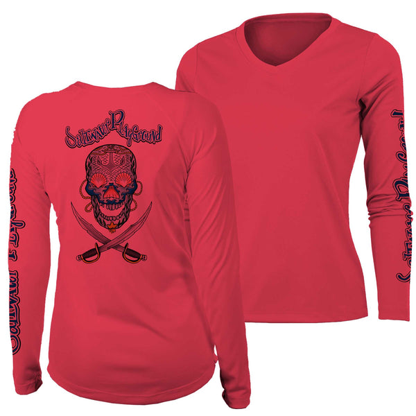 Women's Lucky Jack V-Neck UPF - Coral