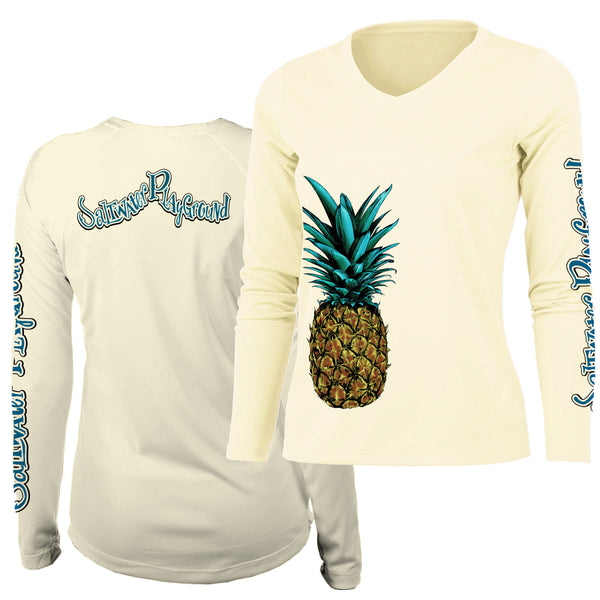 Pineapple V-Neck UPF