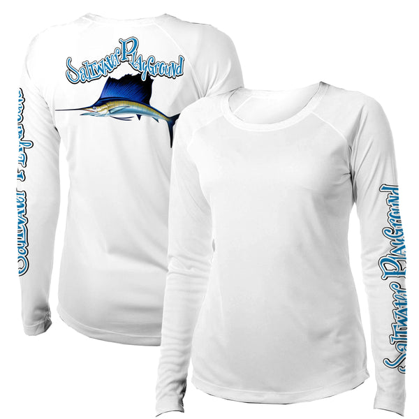 Women's Sailfish UPF - Crew Neck - White