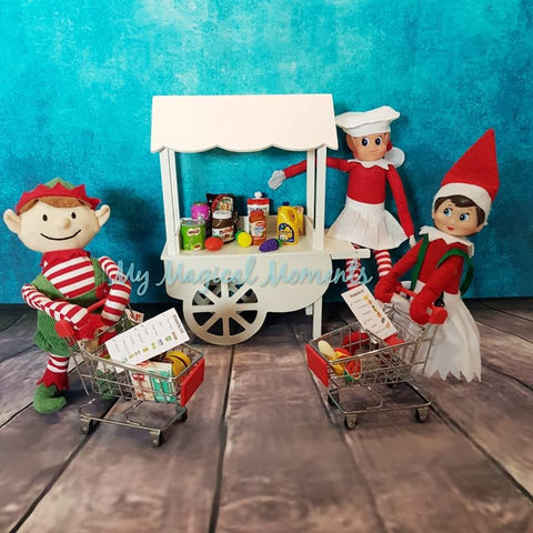 picture about Free Printable Minis titled Cost-free coles mini elf upon the shelf and fruit Browsing checklist