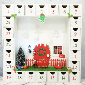 Christmas Elf House Advent Calendar - White - LIMITED TIME ONLY