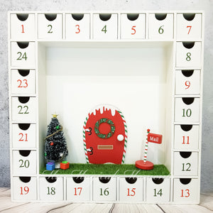 Christmas Elf House Advent Calendar - White SOLD OUT