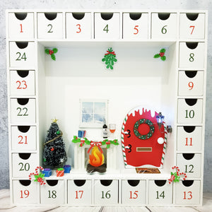 Christmas Elf House Advent Calendar - White SOLD OUT (Discontinued)