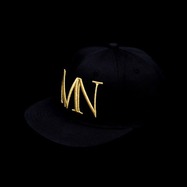 Mutated Nation® Gold MN Flat Brim Snapback Cap