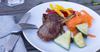 Lamb Cutlets with Steamed Vegetables