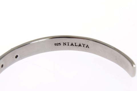 Nialaya Arrow Women's Crystal 925 Bracelet Silver LN357