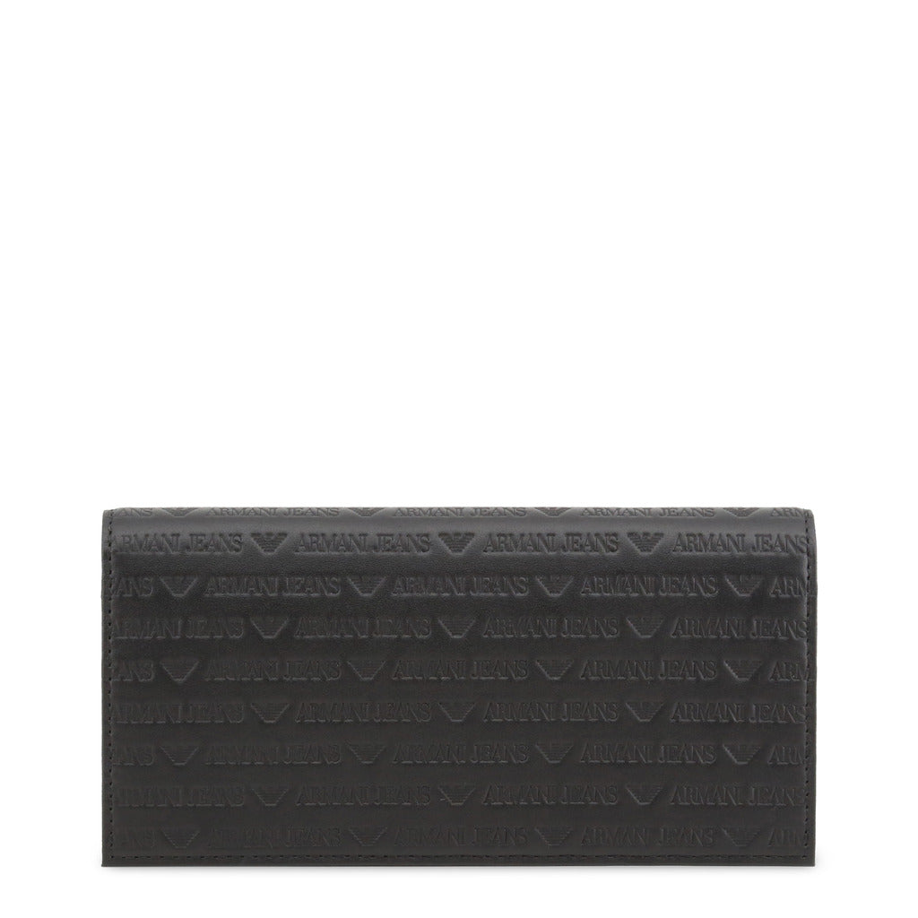 Armani Jeans Unisex Leather Wallet Black 938543 CD999