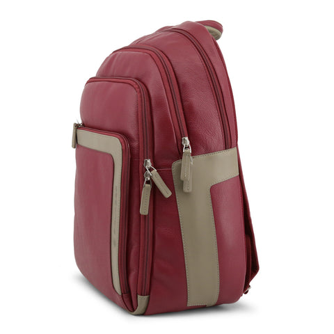 Piquadro Men's Leather Backpack Red CA1813X1