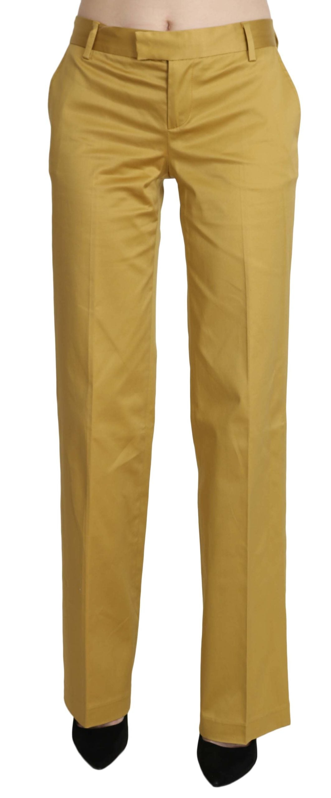 Just Cavalli Women's Trousers Yellow PAN70344