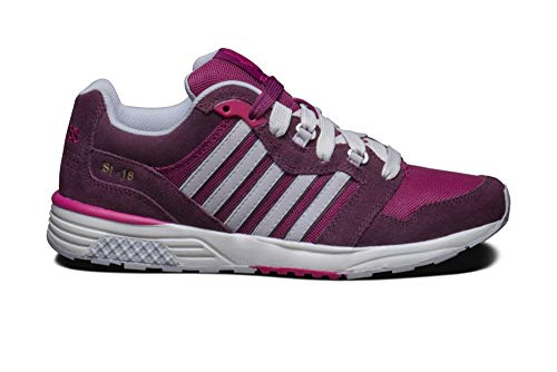 K Swiss Men's SI 18 Rannell Suede Trainers Pink Burgundy