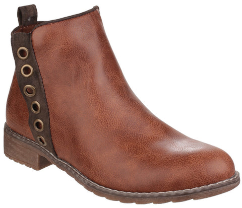 Divaz Women's Demi Pull On Ankle Boot Brown 24274-40026