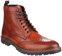 Base London Men's Troop Lace up Boot Tan