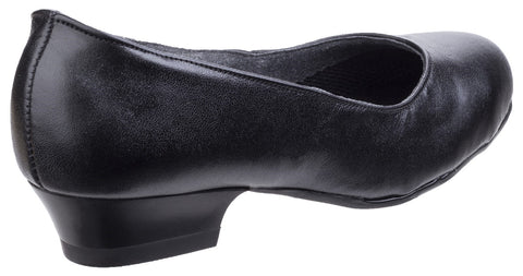 Amblers Women's Safety Court Sandle Shoes Black 02688