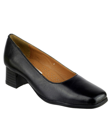 Amblers Women's Walford Wide Fit Court Shoes Black 15233