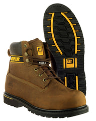 Caterpillar Men's Holton Safety Boot Brown 16106