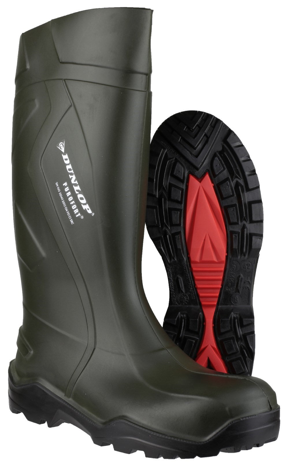 Dunlop Men's Purofort+ Wellington Boot Green 20225