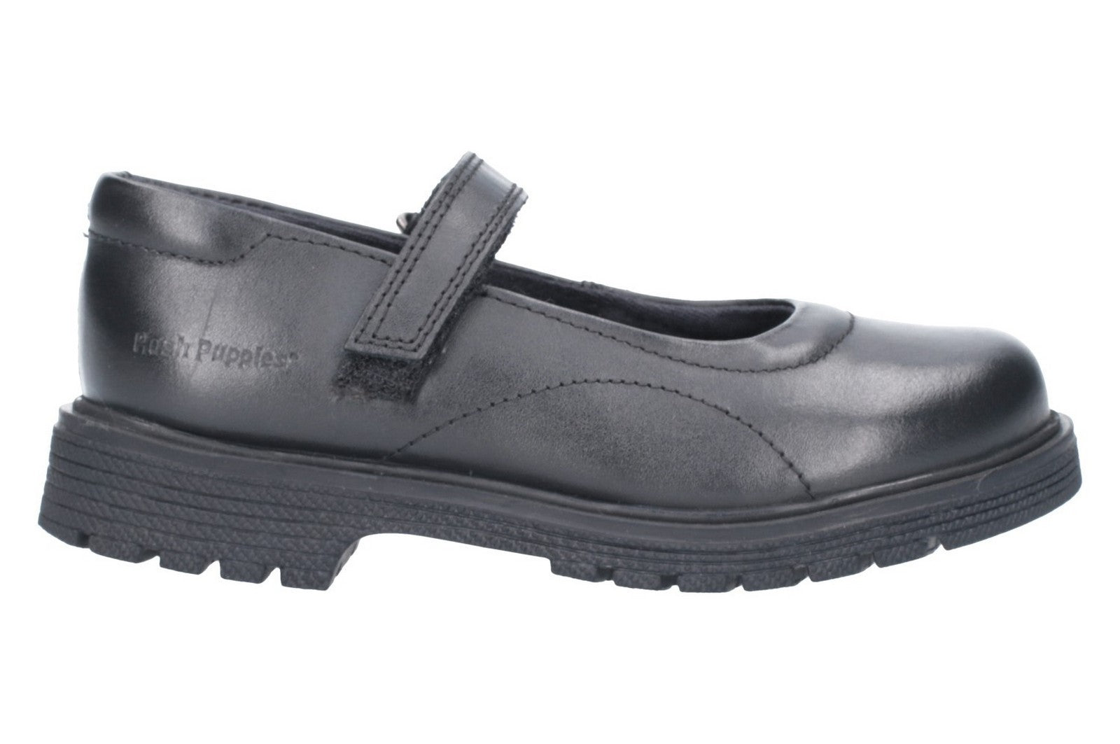 Hush Puppies Men's Tally Junior Touch Fastening Shoe Black 26394