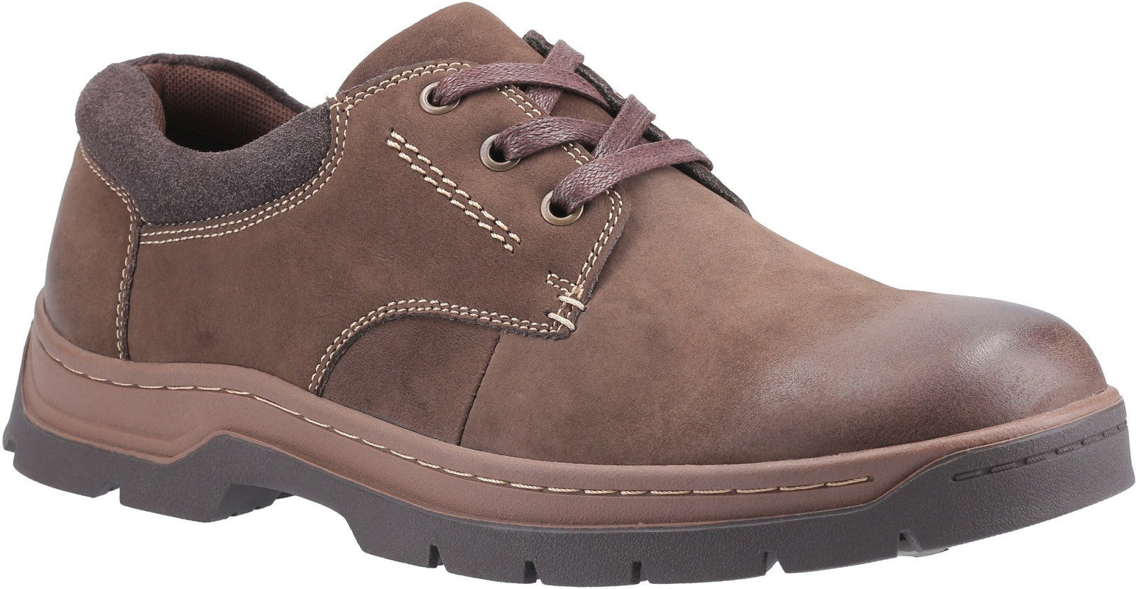 Cotswold Men's Thickwood Burnished Leather Casual Shoe Brown 28237