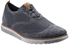 Hush Puppies Men's Expert Wingtip Knit BouncePLUS Lace Up Shoe Dark Grey 29165